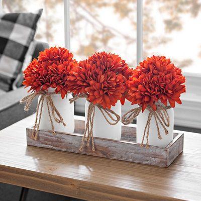 Mum Tray Floral Arrangement