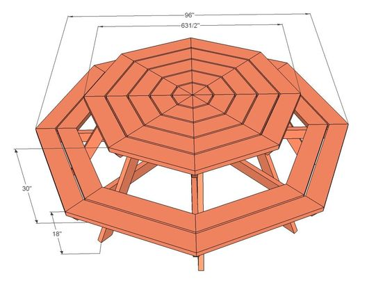 Picnic Table Plans Octagon Picnic Table Free And