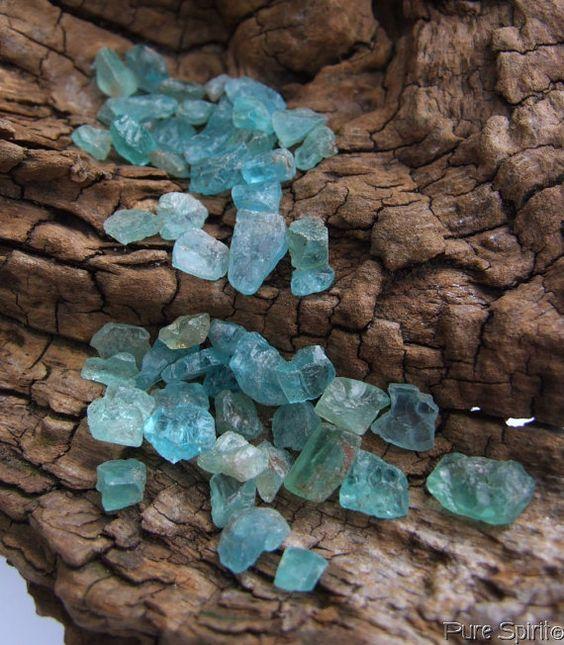 Natural Teal/Aqua Green Blue Gemmy Apatite by PureSpiritCrystals, £4.95