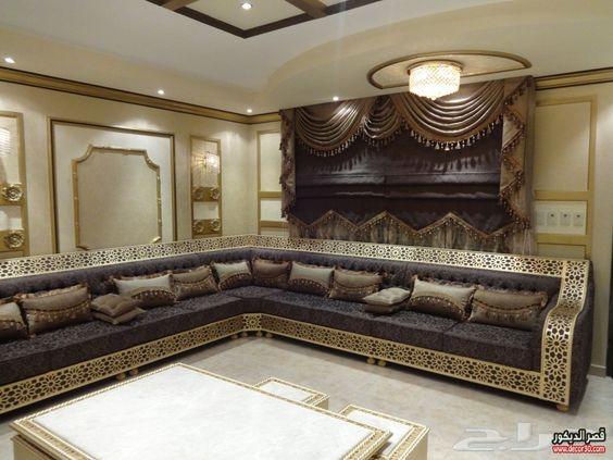 كنبات مجالس رجال ونساء فخمة مغربي وخليجي قصر الديكور Home Furniture Decor