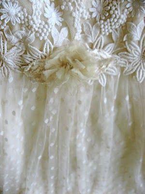 Vintage white lace  #lace