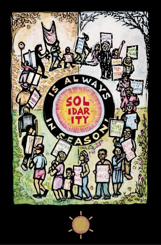 Solidarity Is Always In Season Postcard Ricardo Levins Morales Arts Activist Art Solidarity Postcard