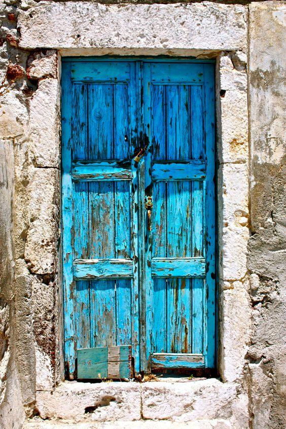 """Italian blue door. 8"""" x 10"""" photo print."""