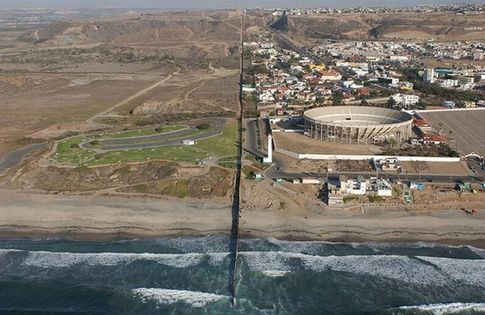 Aerial Photo Of The USMexican Border At Imperial Beach CA Blight - Aerial maps over mexican us border
