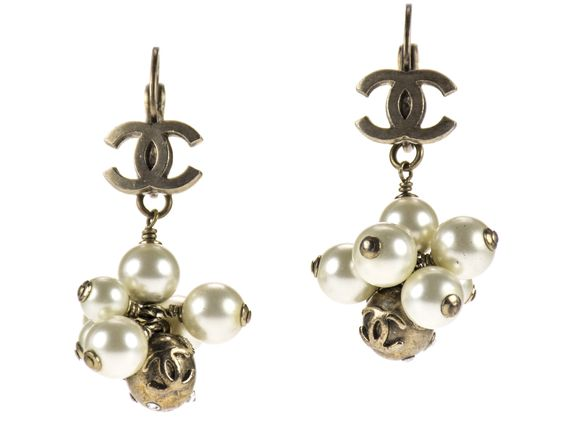 Chanel Pearl Cluster Earrings