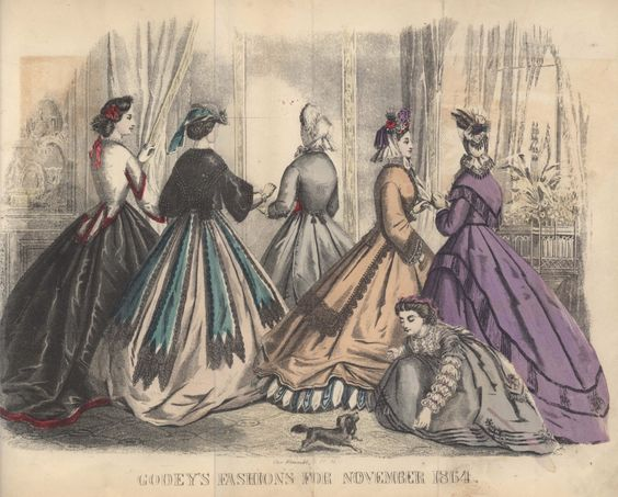 Civil War Era Clothing: Civil War Era Fashion Plate - November 1864 Godey's Lady's Book