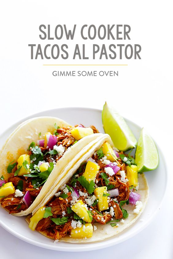 Slow Cooker Tacos Al Pastor | Recipe | Al Pastor, Slow ...