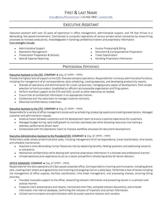 Resume Sample Good ideas Pinterest Resume examples - benefits assistant sample resume