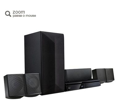 Home Theater Blu-ray 3D Full HD LG LHB625M 1000W 5.1 Canais Private Sound USB << R$ 89999 >>
