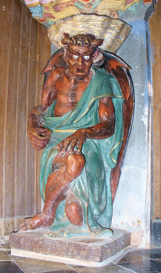 The figure of Asmodeus in Rennes-le-Château.