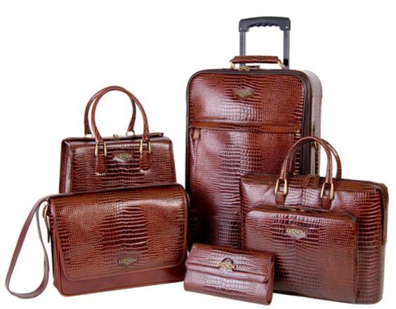 Samantha Brown Luggage Qvc: Luggage Sets, Crocodile And Luxury Travel On Pinterest