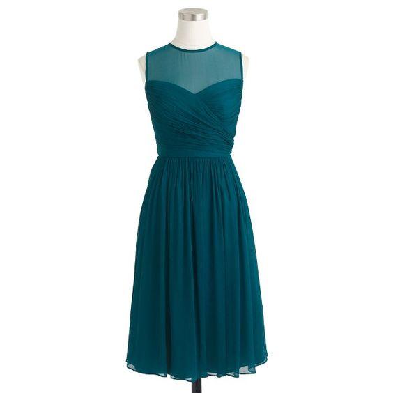 Clara dress in silk chiffon • jcrew