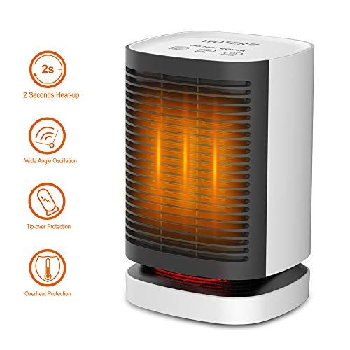 Woterzi Ceramic Space Heater Portable Personal Electric Heater Fan With Hot Natural Wind Overheat Tip Over Protections 2s Heat Up Oscillating Function Quiet In 2020 Space Heater Heater Electric Heater