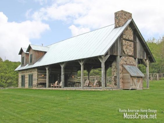 A beautiful farmhouse creation by Barn guest house plans