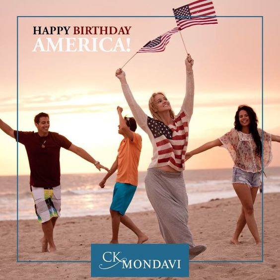 Today, we raise our glass to America's Birthday. Happy Fourth of July!