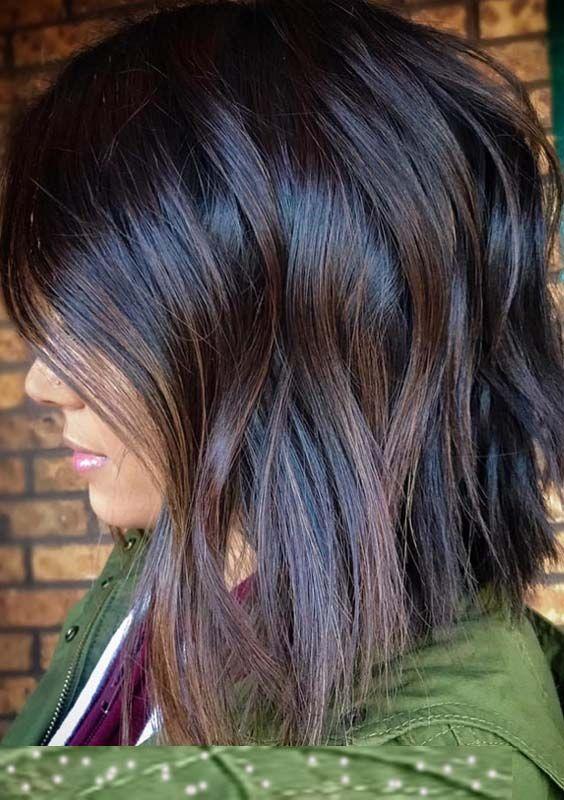 Lovely And Charming Dark Brown Chocolate Hair Colors And Highlights For Short To Medium Haircuts For 2018 Hair Hair Estilos De Cabelo Comprido Ideias De Cabelo