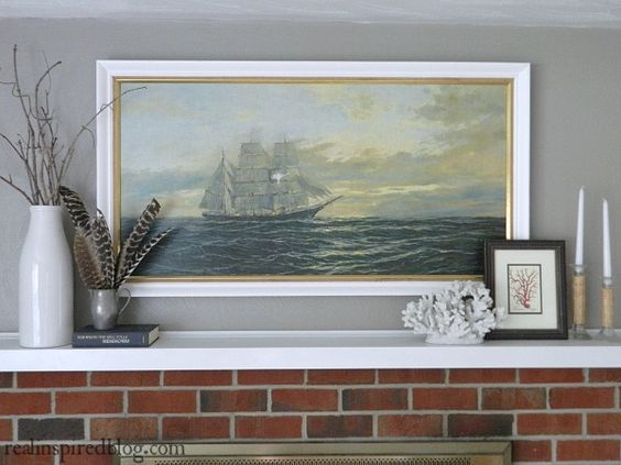 How to Decorate a Long Mantel.