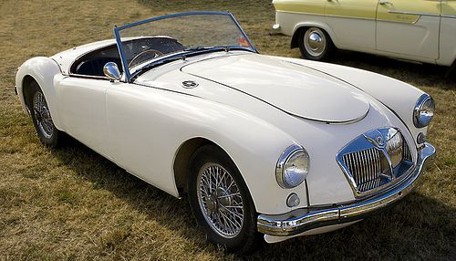 MG...my dad used to have one of these...same color...he still talks about it. :)