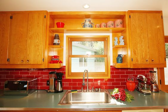 Knotty Pine Cabinets Kitchens And Retro Renovation On Pinterest