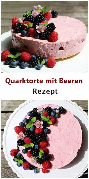 So Geht Sommer Rezept Fur Quarktorte Mit Beeren Ohne Backen Food Sweet Recipes Desserts