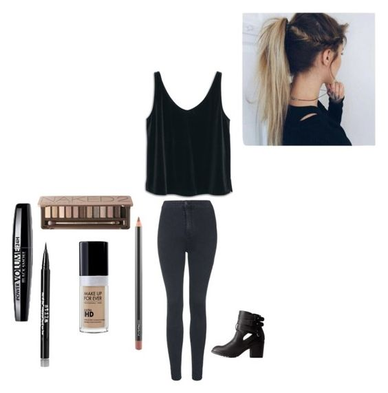"""""""#207"""" by because-why-not ❤ liked on Polyvore featuring Capelli New York, MANGO, Charlotte Russe, Urban Decay, MAC Cosmetics, ULTA, Stila and Topshop"""