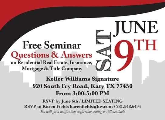 Looking For Something To Do Tomorrow Attend This Free Seminar