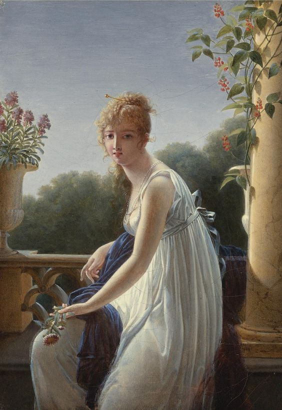 https://flic.kr/p/pX9Ad7   Villers, Marie Denise - A YOUNG WOMAN SEATED BY A WINDOW: