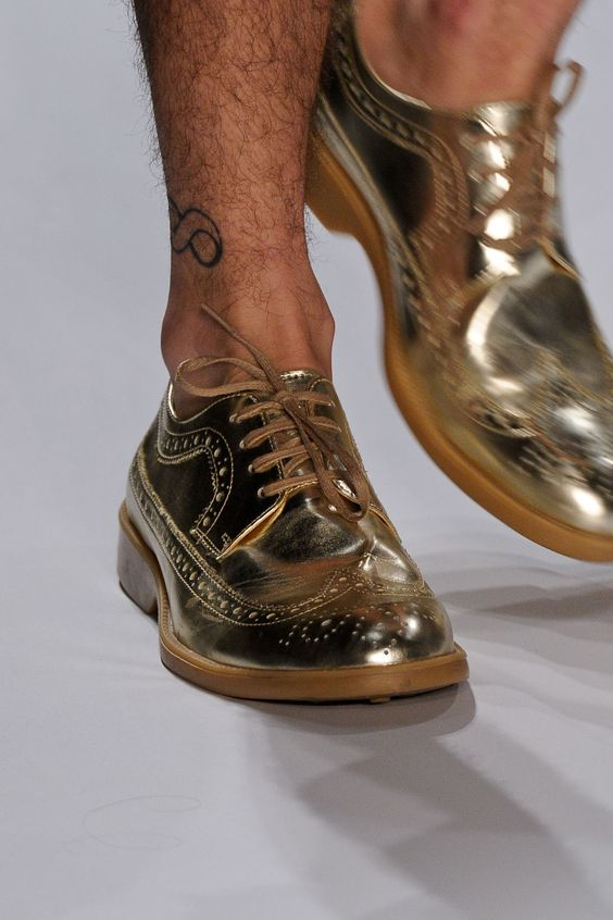 auslander summer 2013 hmm with what does one wear metallic gold wing tips? Buy me a pair and we'll figure it out!