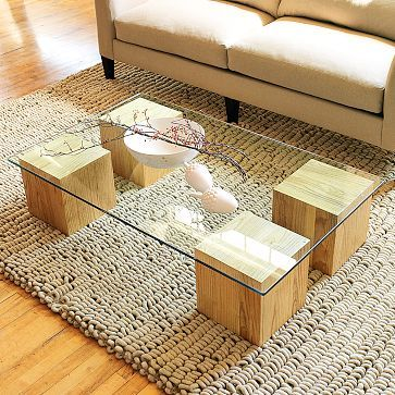 diy modern glass coffee table ideas