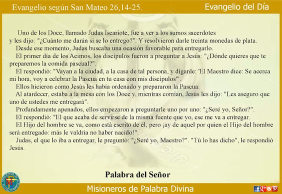 Misioneros de la Palabra Divina: EVANGELIO