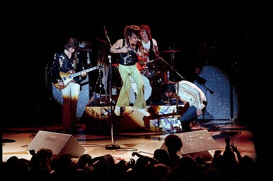 Mick Taylor, Mick Jagger, Charlie Watts, and Keith Richards in performance at the Winterland, San Francisco, CA.