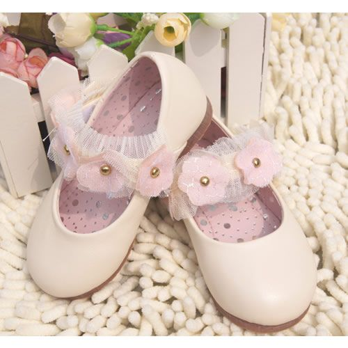 Off White Lambskin Leather Birthday Party Shoes for Flower Girls Buy SKU-133049