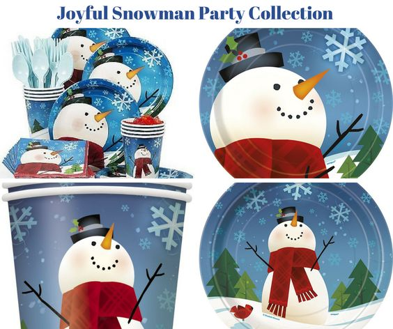 Joyful Snowman Party Banner