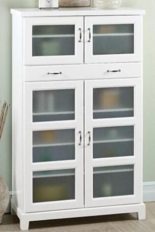 Free standing pantry standing pantry and storage cabinets on pinterest - Free standing kitchen storage solutions ...