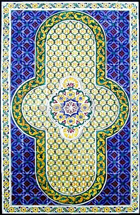 Baños Estilo Marroqui:AZULEJOS decorativos marroquíes: Pintado a mano de estilo marroquí