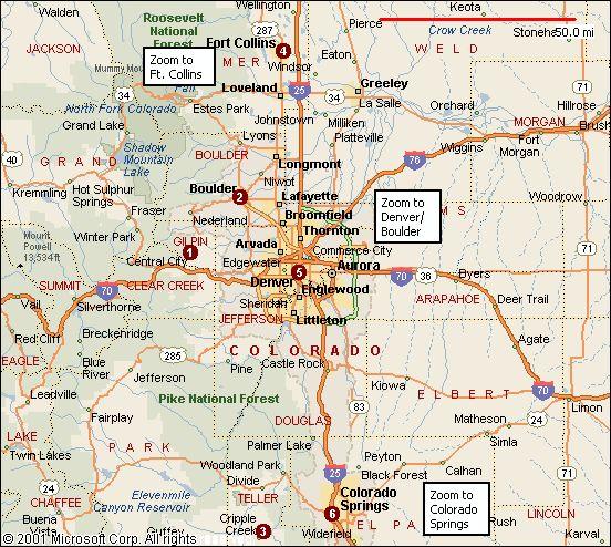 Google Maps Northern Colorado - Free Usa Maps