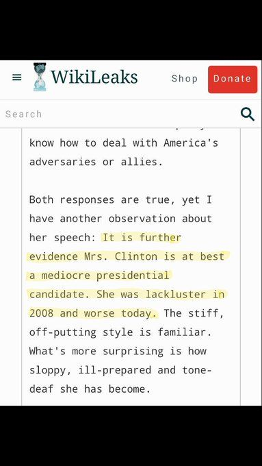"""Podesta thinks Hillary is """"at best a mediocre presidential candidate. She was lackluster in 08' and worse today"""". #PodestaEmails5"""