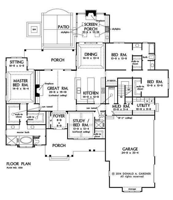 Plan of the week over 2500 sq ft the travis 1350 for 1350 sq ft house plan