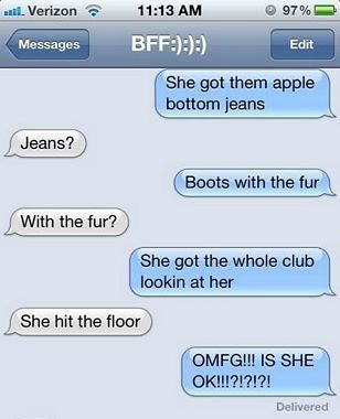 The Web Babbler: Funny Texts #68