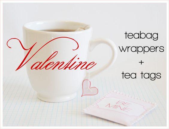 teabag wrappers + tea tags