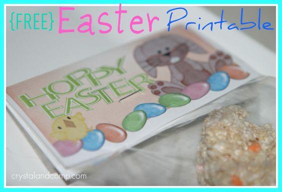 Easter Craft: Rice Krispy Treats {and FREE Printable}