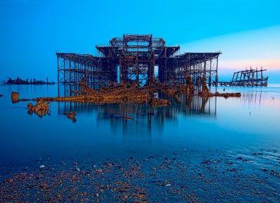 Martin Harmes: The West Pier at dusk