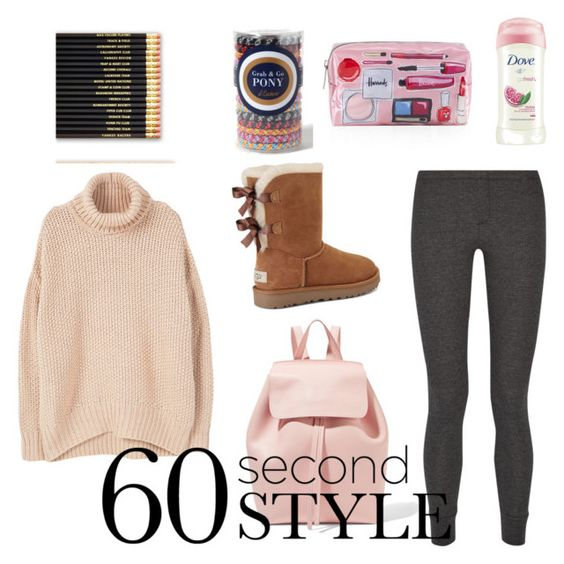 """Late to school"" by spotydoty7 on Polyvore featuring MANGO, Splendid, Dove, Harrods, UGG, Mansur Gavriel, L. Erickson, ombre and 60secondstyle"