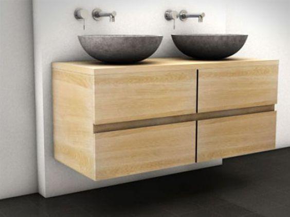 Eiken badmeubel badkamer pinterest - Badkamermeubels oude stijl ...