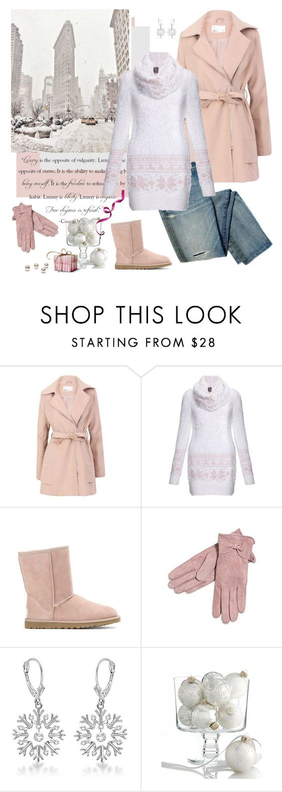 """Winter"" by minni ❤ liked on Polyvore featuring Lavand., Dolce Vita, Lipsy, UGG Australia and Allurez"