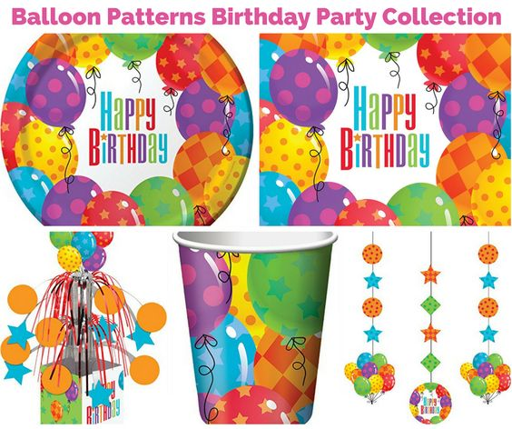 Balloon Patterns Birthday Party