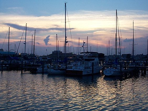 Gulfport, Mississippi...the sunsets and the shrimp feasts are both good.