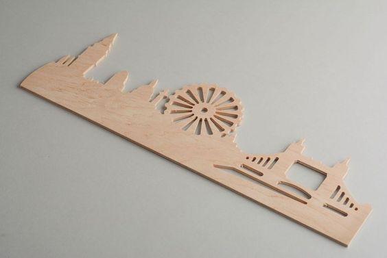 Wanduhr aus Holz von Kreativer Shop auf DaWanda.com
