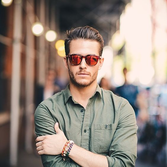The famous Menswear Blogger Adam Gallagher is wearing SPEKTRE Sunglasses Mas! 1. SHOP MAS Red with Mirrored Orange Lenses by SPEKTRE Sungla...: