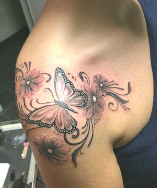 150 Shoulder Tattoos Tattoo Schulter Frau 4